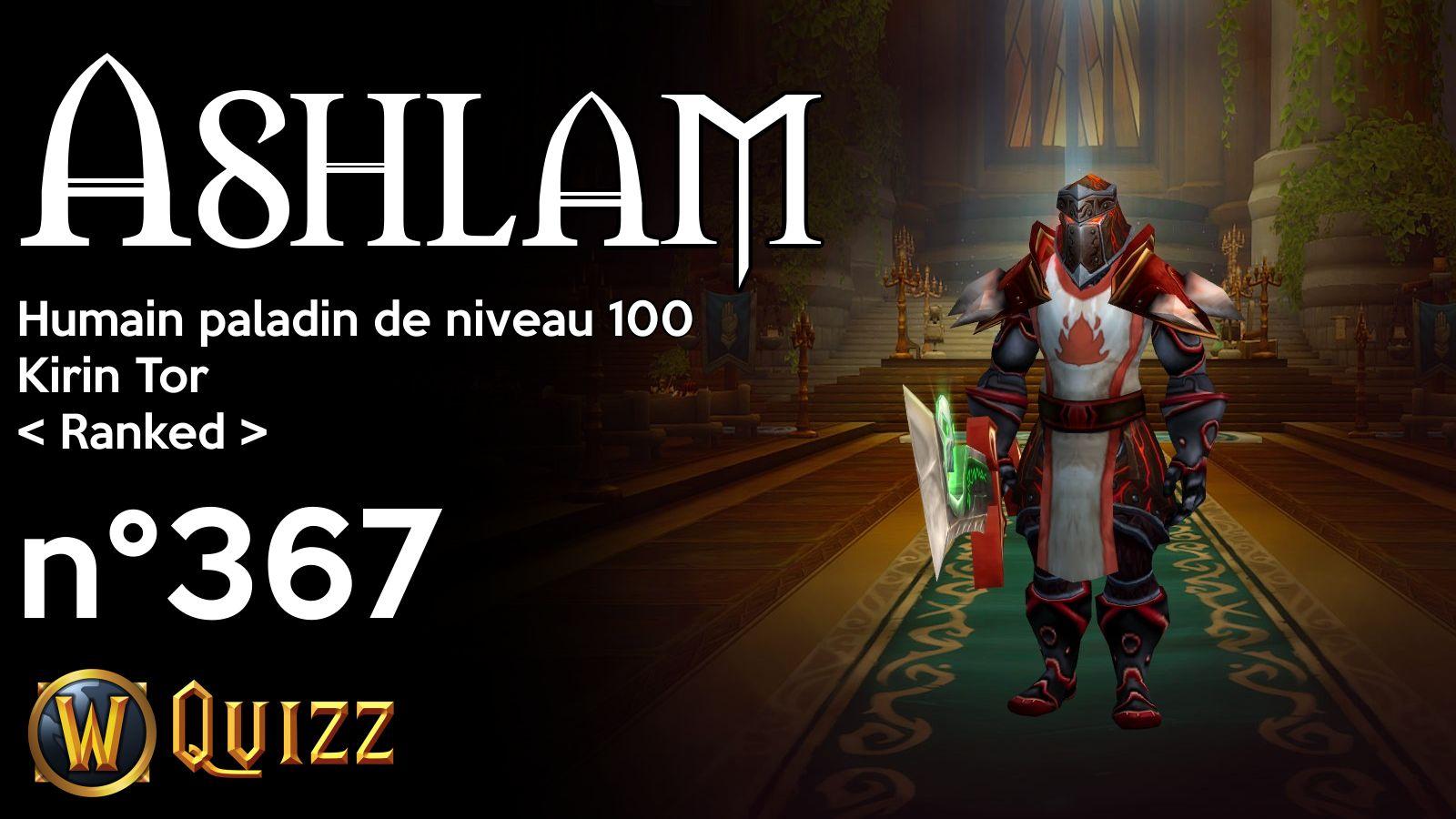 Ashlam, Humain paladin de niveau 100, Kirin Tor