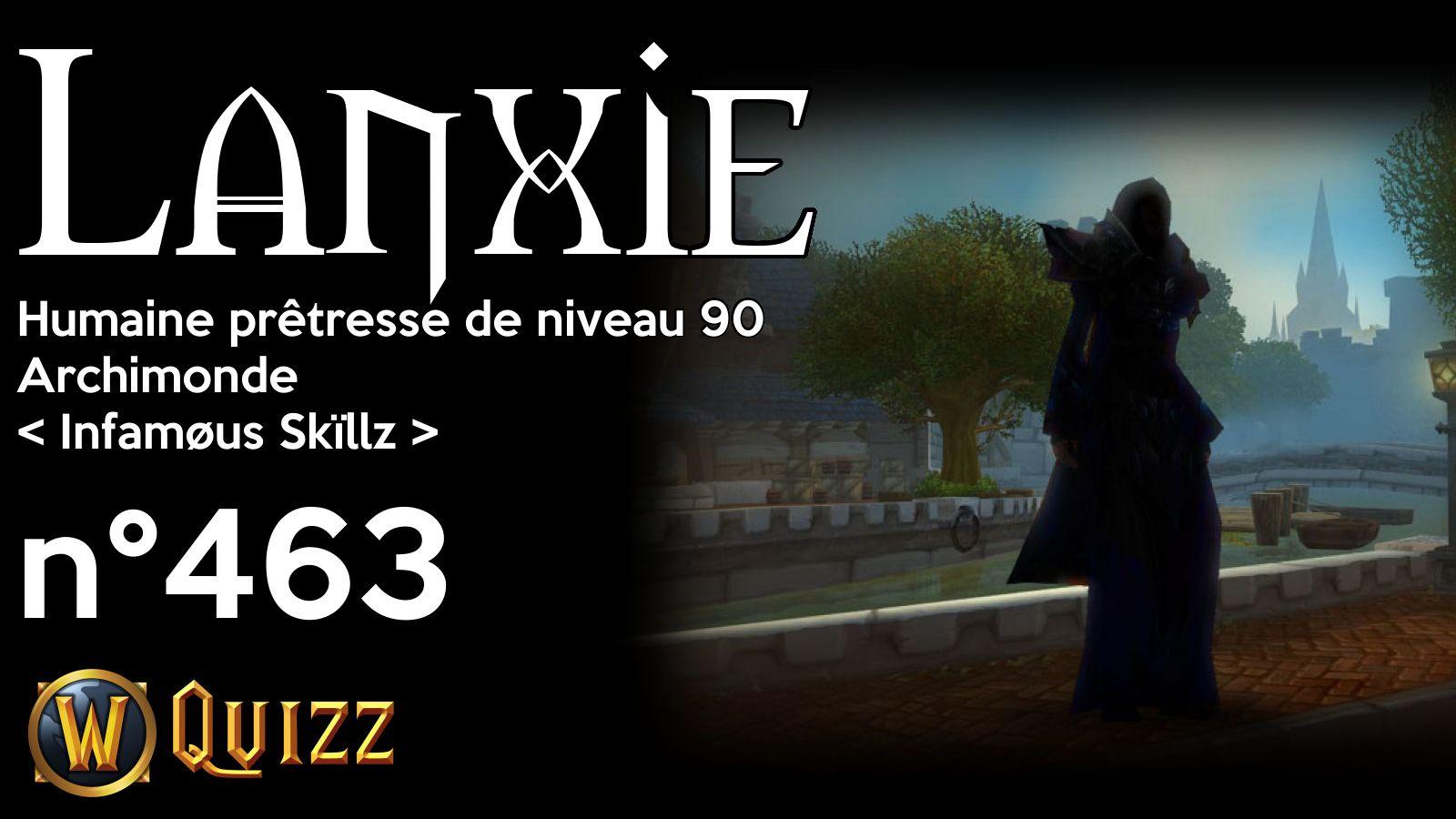 Lanxie, Humaine prêtresse de niveau 90, Archimonde