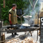 Crêpes au feu de bois