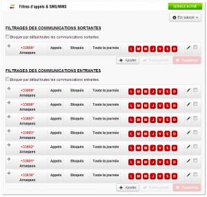 Configuration de la black-list des numéros surtaxés  chez Free Mobile