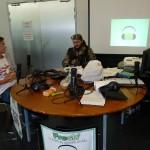 Le plateau de la web radio Fresh'