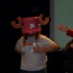 Le chapeau de Chopper est un peu grand pour Seb