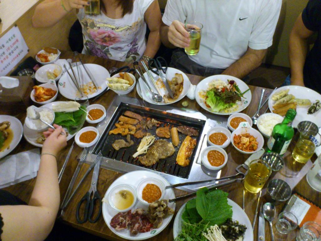 Un repas coréen standard