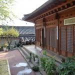 Cour intérieur d'une maison traditionnelle dans le quartier de Bukcheon