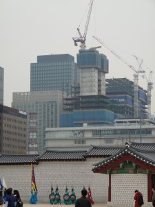 La construction est permanente à Seoul