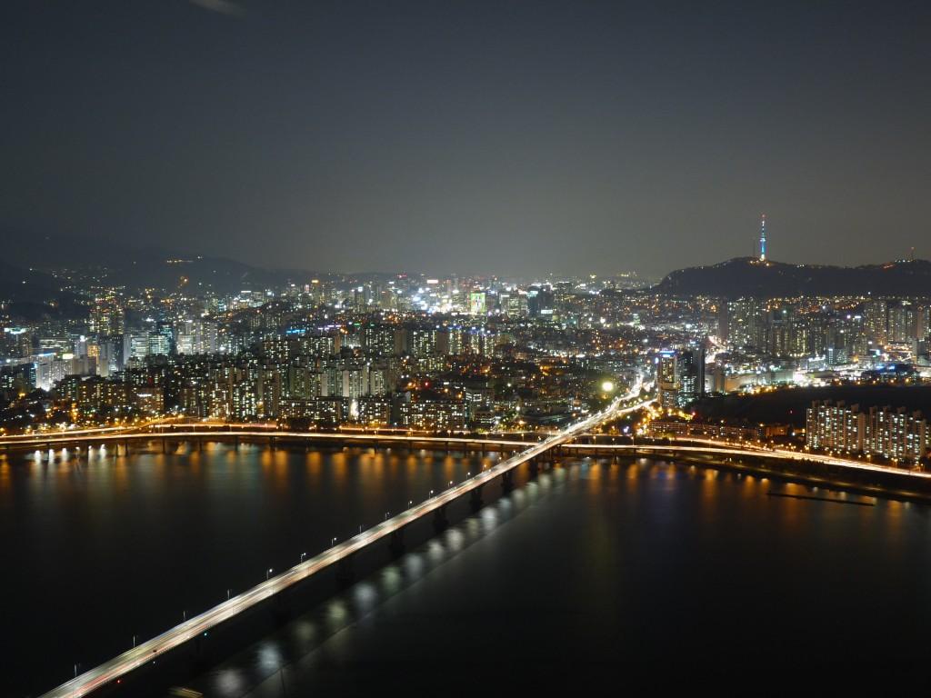 Vue nocturne de Seoul